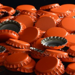 Orange Crown Bottle Caps 144ct