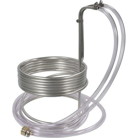 Stainless Steel Immersion Wort Chiller (25' x 3/8 in. With Tubing)