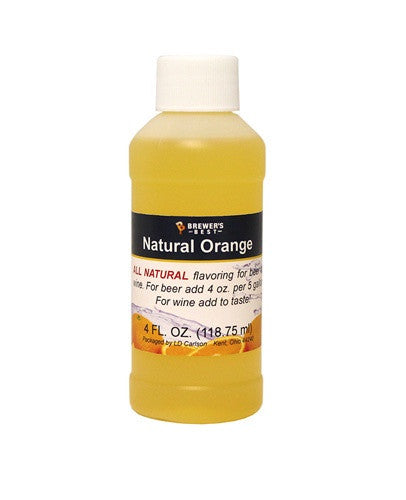 Orange Flavoring - All Natural - 4oz