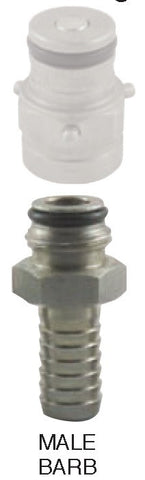 "Pin Lock Adapter, 3/8"" Barb"