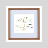 Coonamble Map - limited edition print