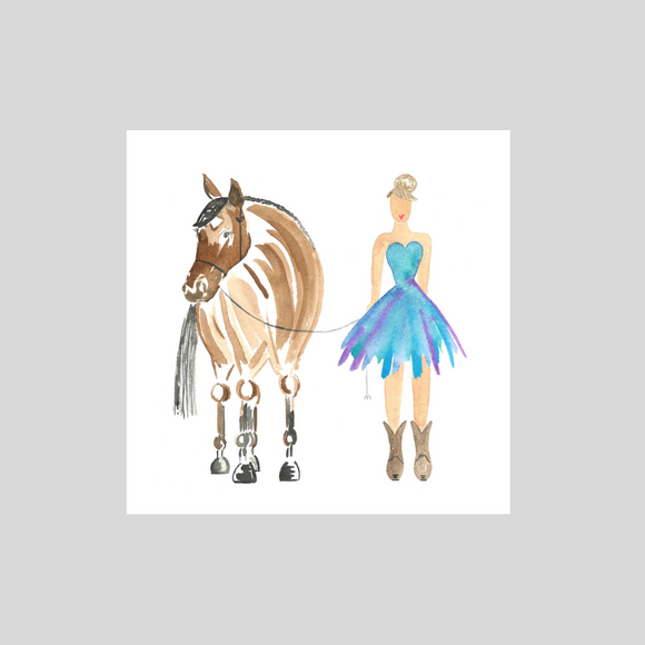 Card -  Girl and Horse