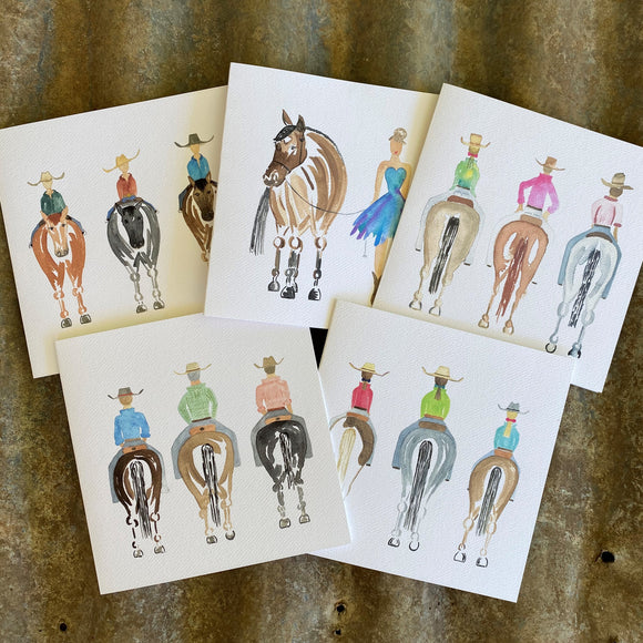 The Horses - Pack of 5 Cards