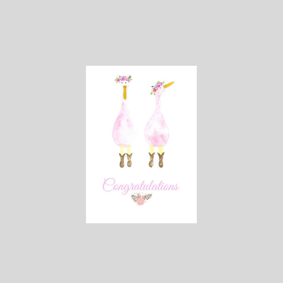 Card - Congratulations Pink