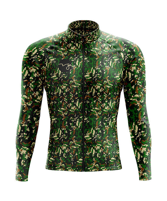 Mens Hurricane Thermo Jacket Green Camo