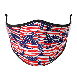 USA Abstract Flag SPORTS Mask