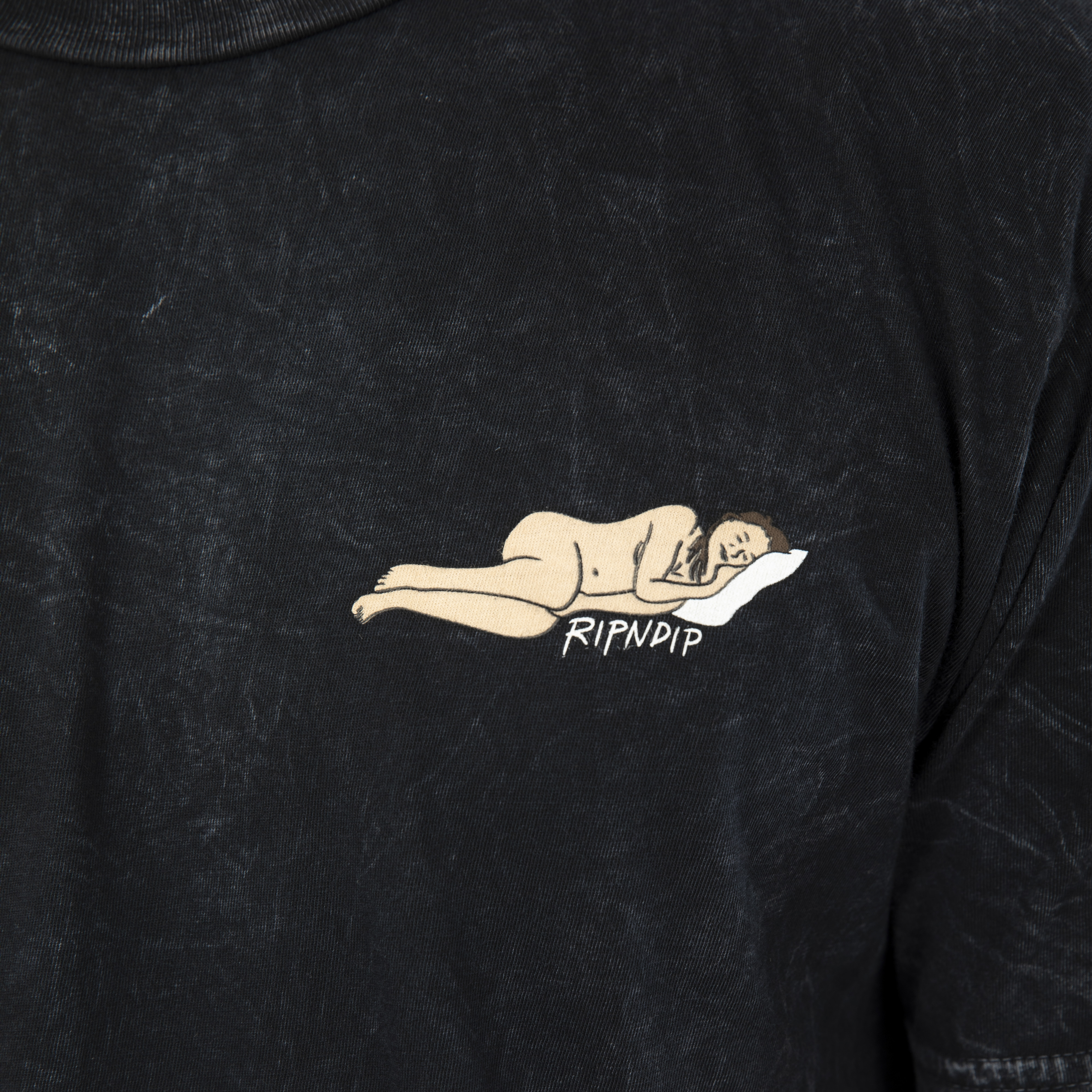 Nap Time Tee <br> ( Black Mineral Wash )