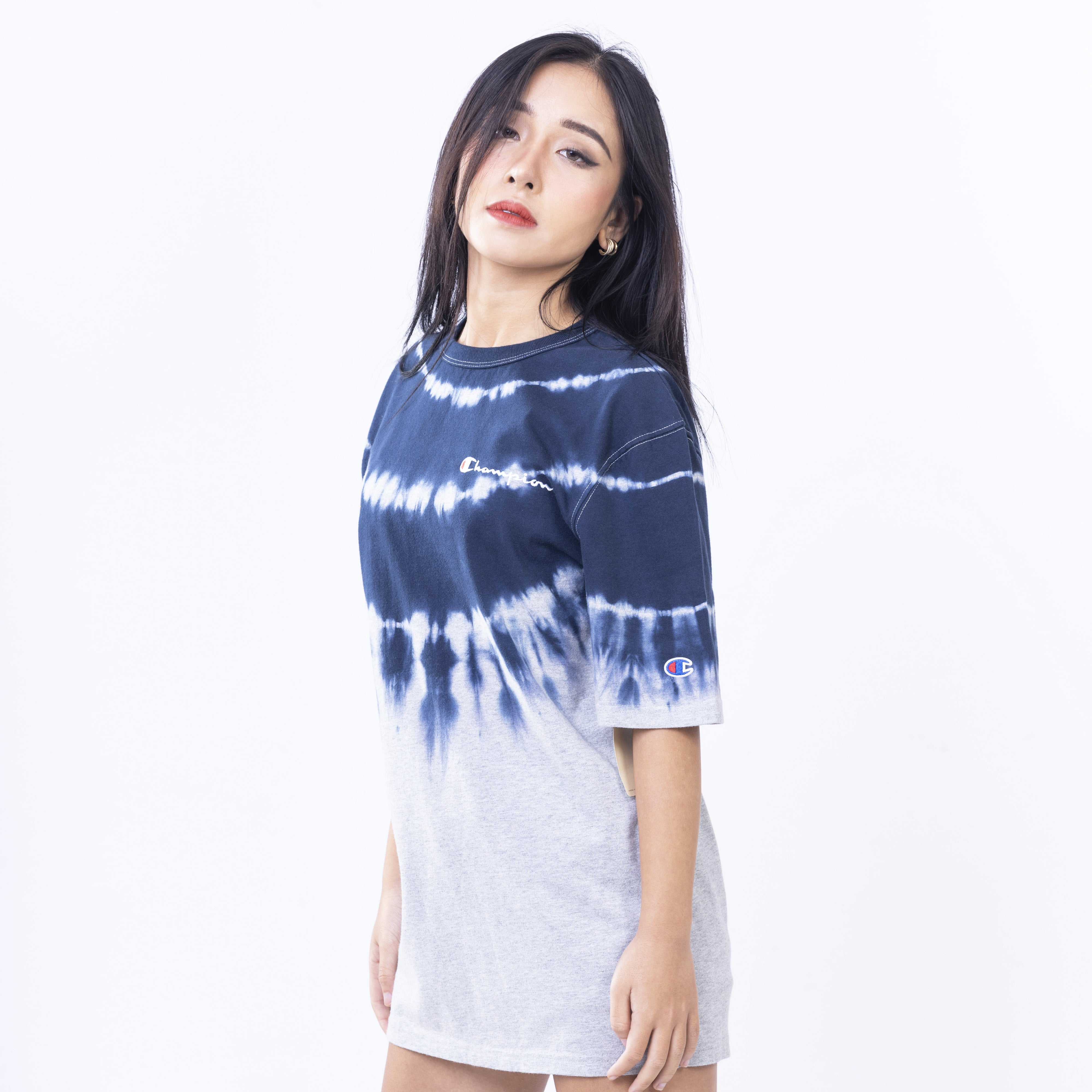 Heritage Streak Dye Tee <br> ( Oxford Grey/Navy )