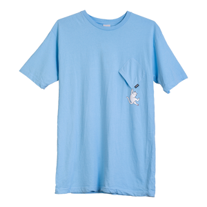 Hang In There Pocket Tee <br> ( Baby Blue )