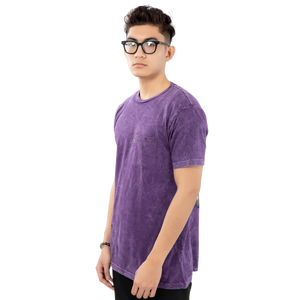 World On Fire Tee <br> ( Purple Mineral Wash )