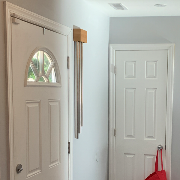 ElectraChime Bamboo Long Bell Door Chime with three nickel-plated brass bells in New Jersey