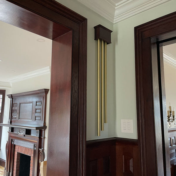ElectraChime Coronet Finish to Suit Vintage Long Bell Door Chime Stained in Newport, Rhode Island
