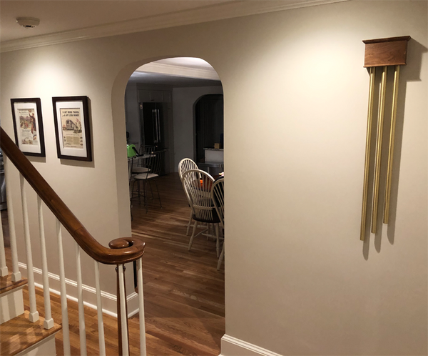 ElectraChime Coronet Long Bell Door Chime Stained by Homeowner in Salisbury, Massachusetts