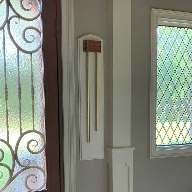 Innovative raised frame for ElectraChime tubular door chime in Germantown, Tennessee