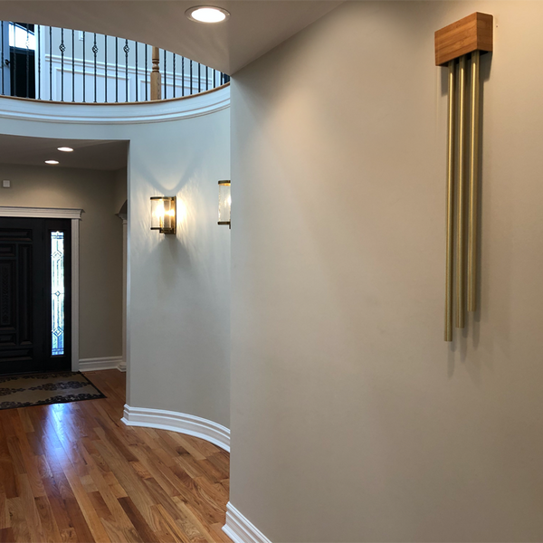 ElectraChime Bamboo Pipe Door Chime with three brass bells in Downings Grove Illinois