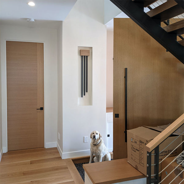 ElectraChime Metro Long Bell Door Chime with three black bells.