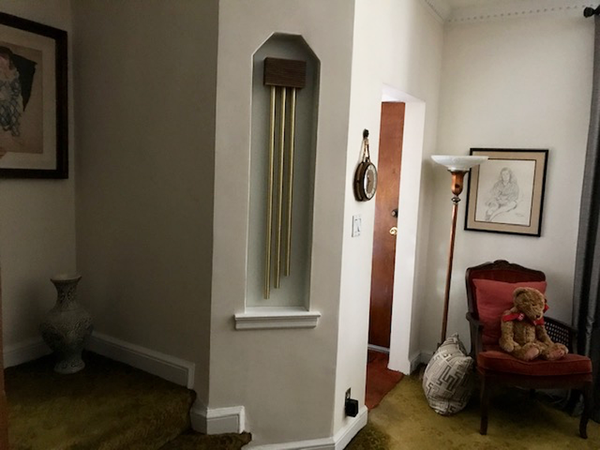 ElectraChime Metro Door Chime with custom length tubular bells in Middle Village, New York.