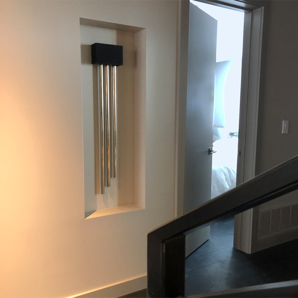 ElectraChime Metro Long Bell Door Chime with custom ebony stain in Park City Utah
