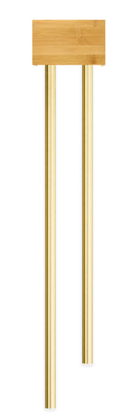 BBB2|Bamboo Doorbell with two Long Brass Tubes