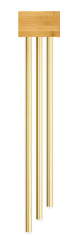 BBB3|Bamboo Doorbell with three Long Brass Tubes