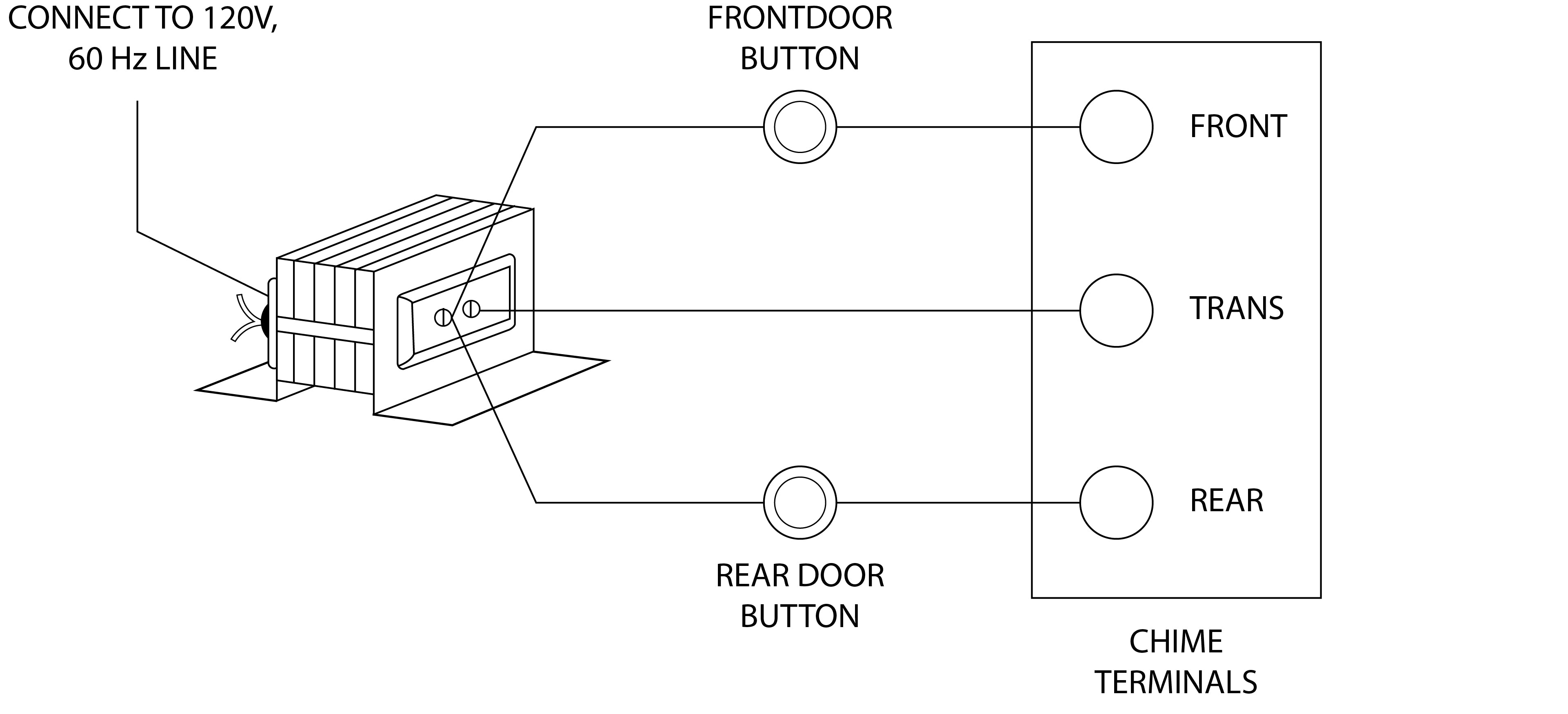 Wiring Diagram For Byron Doorbell : Byron doorbell transformer wiring diagram for a