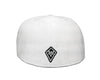 Classic Fitted Hat in White - Back