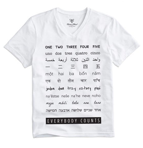 Everybody Counts T-shirt / Ladies White