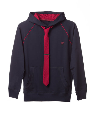 Tie Hoodie - Athletic in Navy