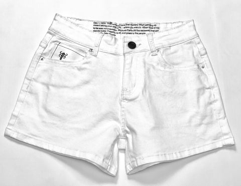 FashionFitted® TIME shorts (White)