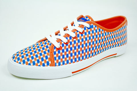Social Kicks Women's Sneaker — Orange/Blue