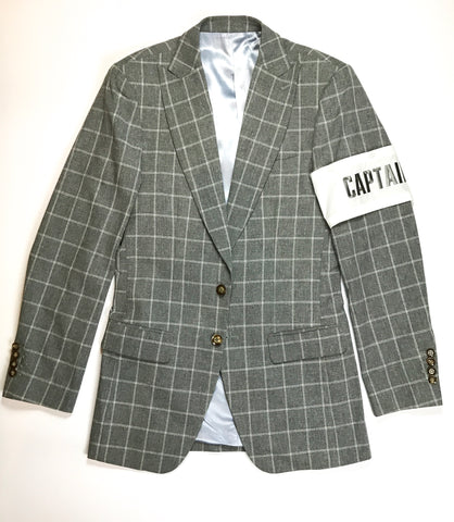 FashionFitted Captain Sports Jacket — Gray Checkered