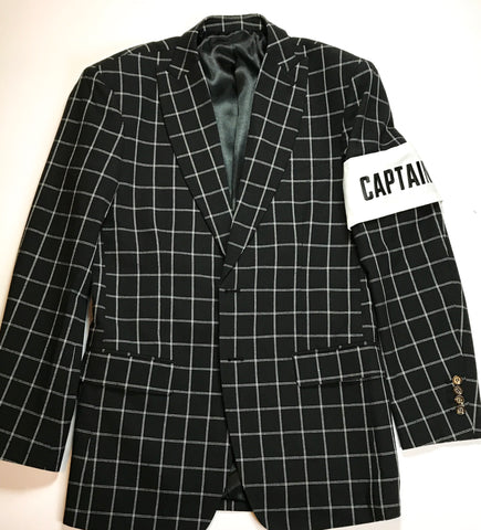 FashionFitted Captain Sports Jacket — Black Checkered