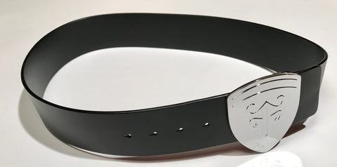 Voom Voom Leather Belt — Black