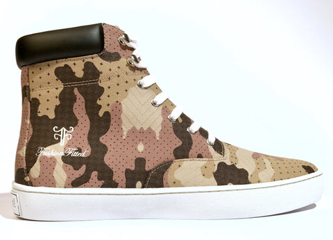 Yeahh! Camo High-top — Tan