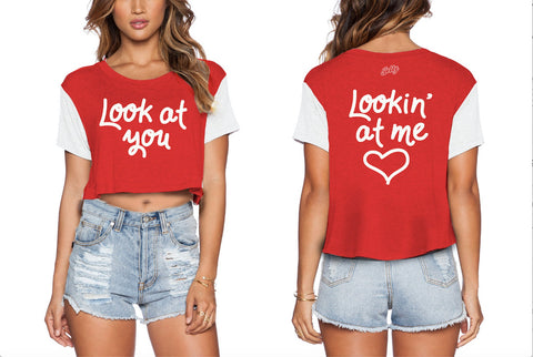 Jelly Look at You Lookin' at Me t-shirt — Red