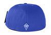 Classic Fitted Hat in Royal Blue - Black