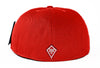 Classic Fitted Hat in Red - Back