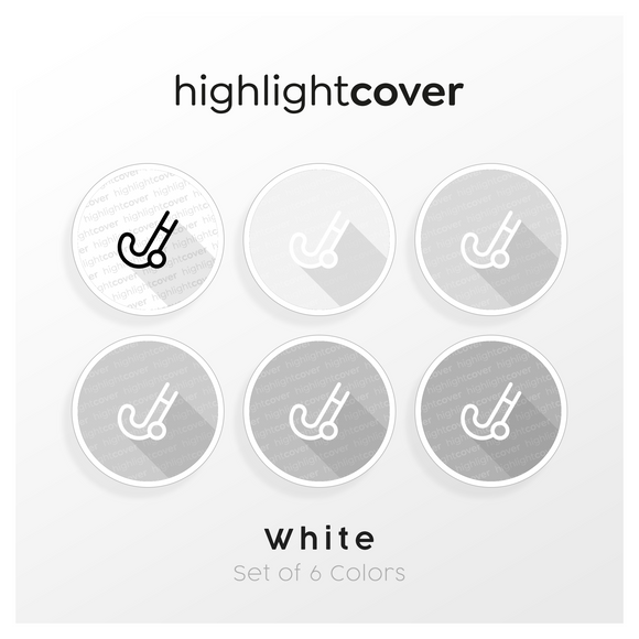 Instagram Highlight Cover Feldhockey / Field-hockey In 6 verschiedenen White Farben