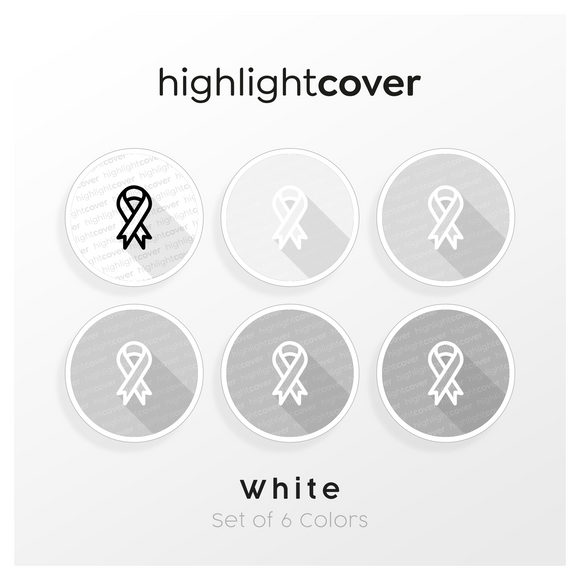 Instagram Highlight Cover Band / Ribbon In 6 verschiedenen White Farben