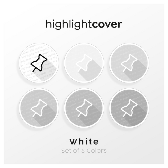 Instagram Highlight Cover Reißnagel / Thumbtack In 6 verschiedenen White Farben