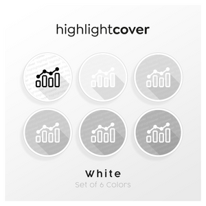 Instagram Highlight Cover Analytik / Analytics In 6 verschiedenen White Farben