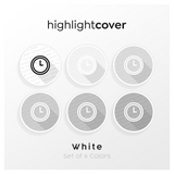 Instagram Highlight Cover Uhr / Clock In 6 verschiedenen White Farben