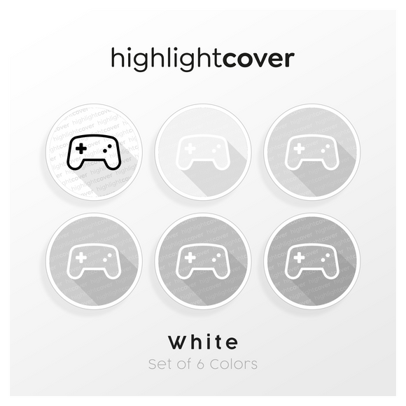 Instagram Highlight Cover Gamepad-alt In 6 verschiedenen White Farben
