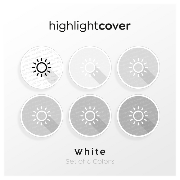 Instagram Highlight Cover Sonne / Sun In 6 verschiedenen White Farben