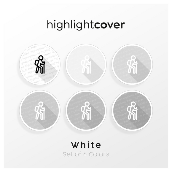 Instagram Highlight Cover Wandern / Hiking In 6 verschiedenen White Farben