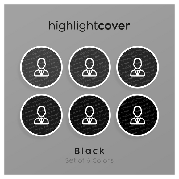 Instagram Highlight Cover Krawatte / User-tie In 6 verschiedenen Black Farben