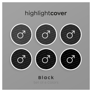 Instagram Highlight Cover Mars In 6 verschiedenen Black Farben