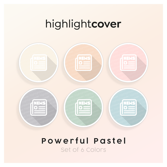 Instagram Highlight Cover Nachrichten / News In 6 verschiedenen Powerful Pastel Farben