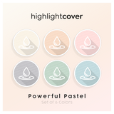 Instagram Highlight Cover Wasser-tropfen / Water-drop In 6 verschiedenen Powerful Pastel Farben