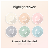 Instagram Highlight Cover Zitrone / Lemon In 6 verschiedenen Powerful Pastel Farben